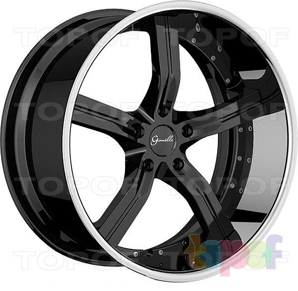 Колесные диски Gianelle Cancun. Черный с полированным ободом