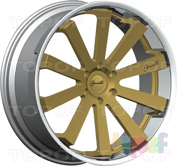 Колесные диски Gianelle Santo-2SS. Золотой цвет, полированный обод