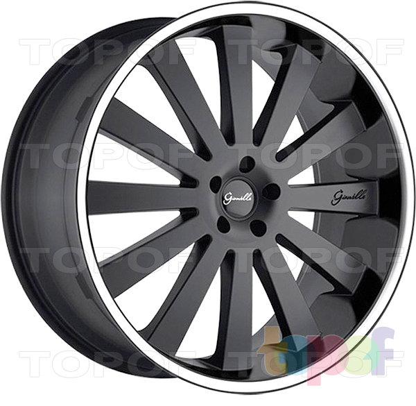 Колесные диски Gianelle Santorini. Черный матовый с полированным ободом