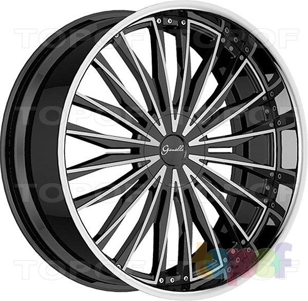 Колесные диски Gianelle Trentino. Двухтональный черный с полированным ободом и лучами