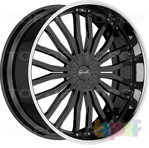 Колесные диски Gianelle Trentino. Черный с полированным ободом