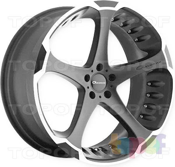 Колесные диски Giovanna Dalar. Черный с полированным ободом, 5 отверстий