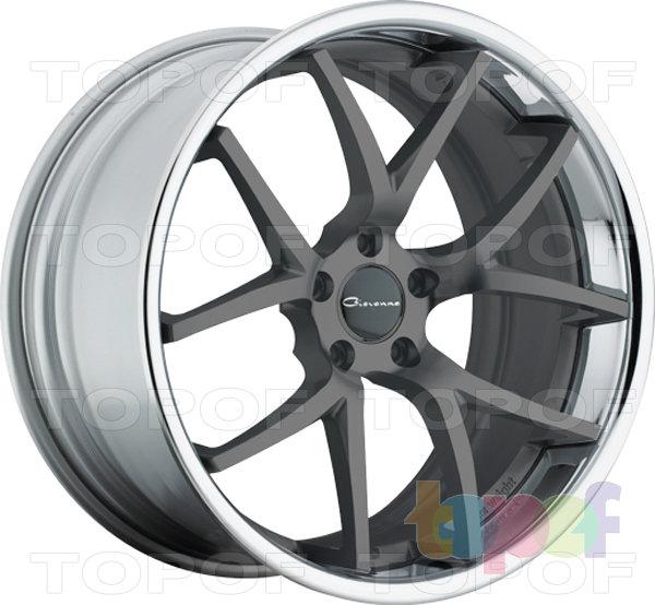 Колесные диски Giovanna Monza. Графитовый с полированным ободом