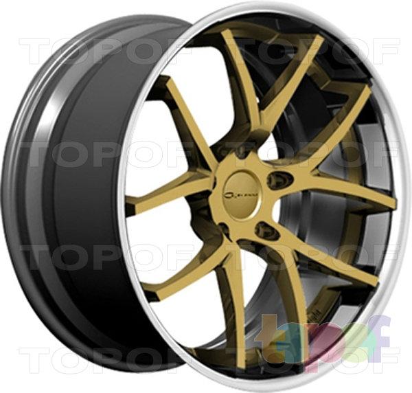 Колесные диски Giovanna Monza. Золотой с полированным ободом