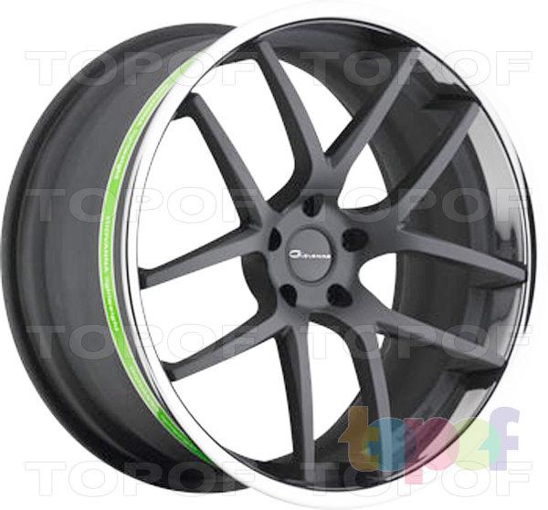 Колесные диски Giovanna Monza. Черный с полированным ободом