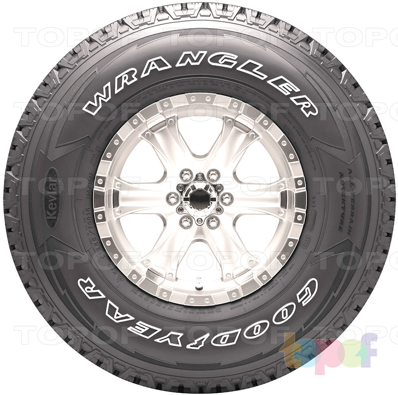 Шины Goodyear Wrangler All-Terrain Adventure. Вид сбоку