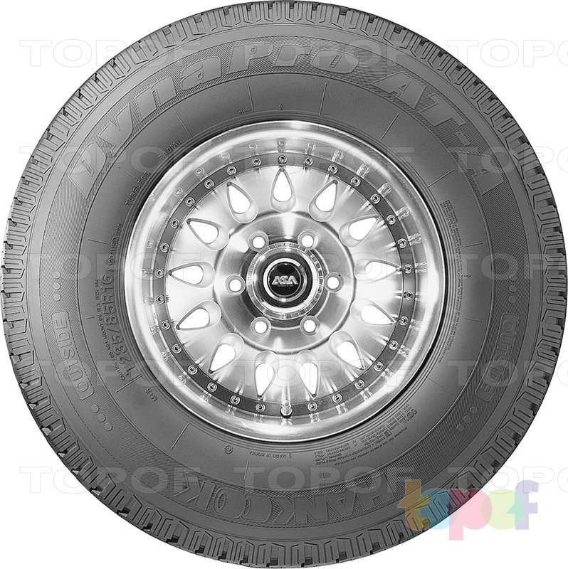 Шины Hankook Dynapro AT-A RF09. Вид сбоку