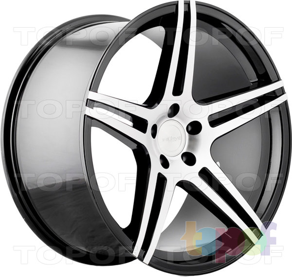 Колесные диски Incurve wheels IC-S5. Цвет machine gloss black