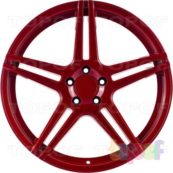 Колесные диски Incurve wheels IC-S5. Цвет красный
