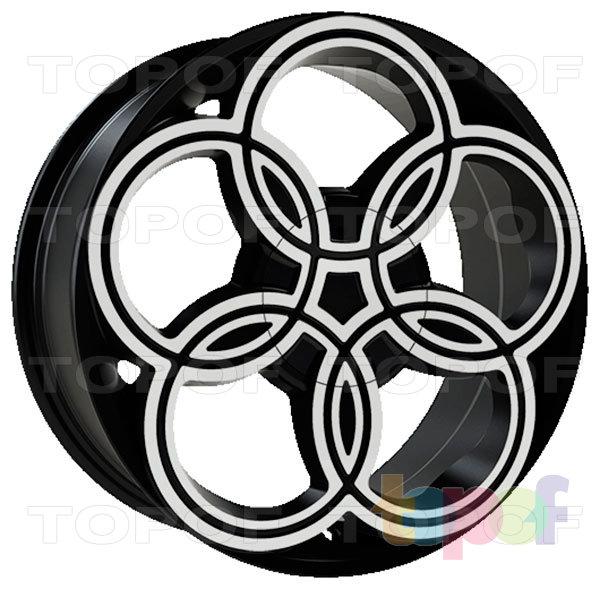Колесные диски iWheelz Sunrise. Цвет колесного диска - BMF (Чёрный с алмазной механической обработкой лицевой поверхности)