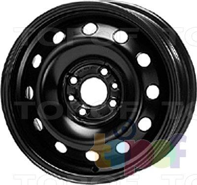 Колесные диски KFZ 6060. Изображение модели #1