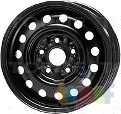 Колесные диски KFZ 6137. Изображение модели #1