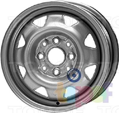 Колесные диски KFZ 6760. Изображение модели #1