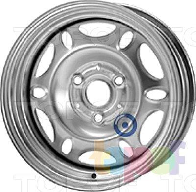 Колесные диски KFZ 7850. Изображение модели #1