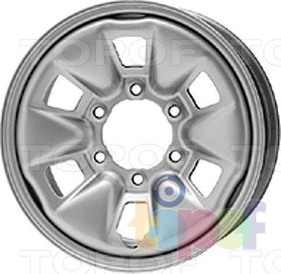 Колесные диски KFZ 8070. Изображение модели #1