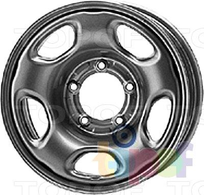 Колесные диски KFZ 9880. Изображение модели #1