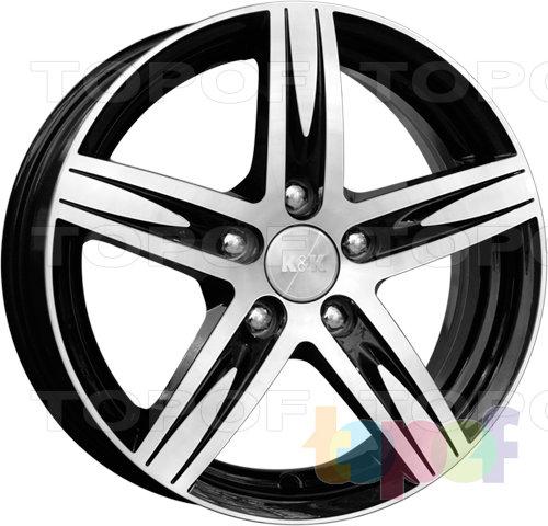 Колесные диски КиК Андорра. Цвет - алмаз черный