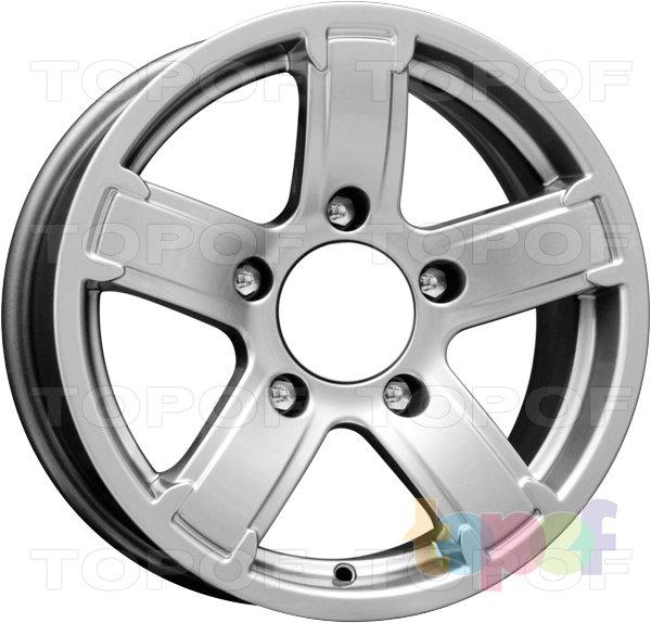 Колесные диски КиК Ангара. Цвет - блек платинум