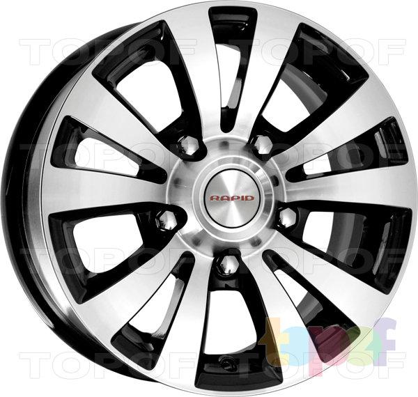 Колесные диски КиК Фалкон. Цвет алмаз черный