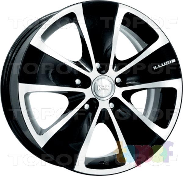 Колесные диски КиК Иллюзио. Алмаз черный