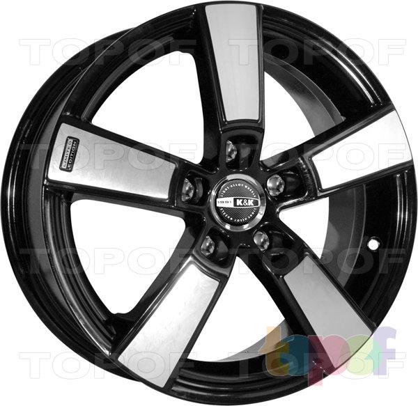 Колесные диски КиК Кон-тики. Алмаз черный