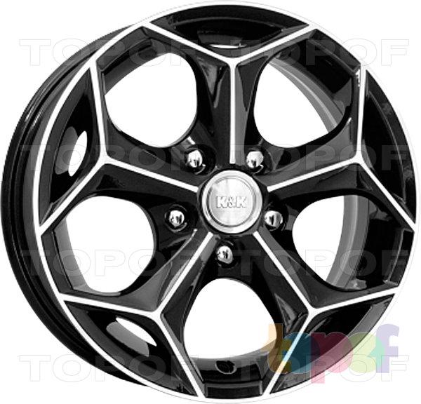 Колесные диски КиК Кристалл. Алмаз черный