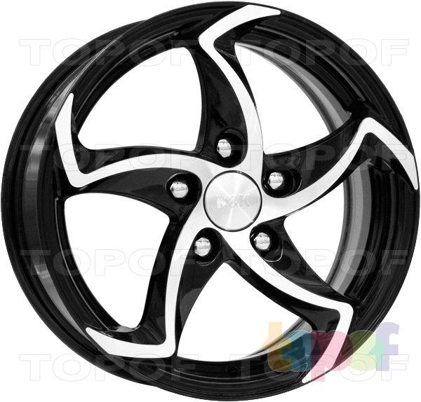 Колесные диски КиК Ландау. Алмаз черный