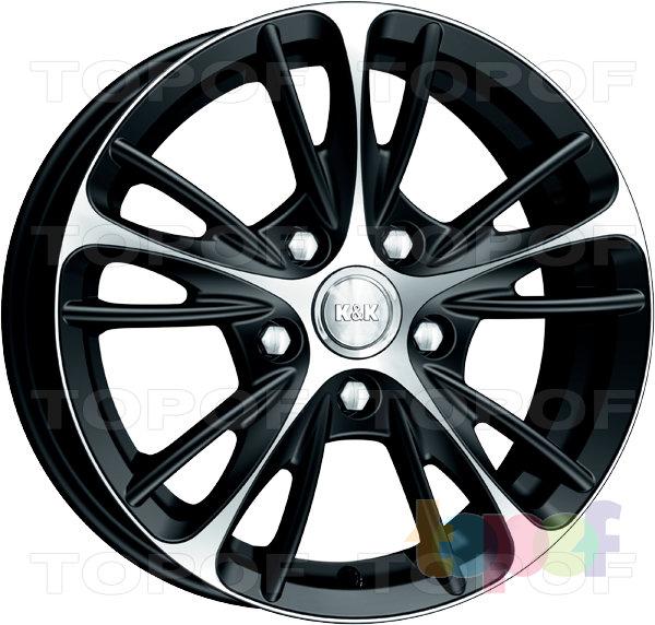 Колесные диски КиК Мулен Руж. Цвет алмаз черный