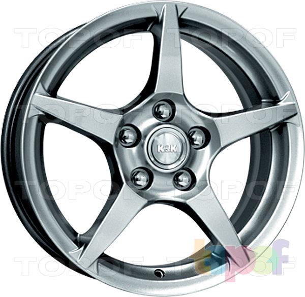 Колесные диски КиК R1. Цвет - блэк платинум