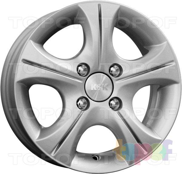 Колесные диски КиК Реверс. Цвет сильвер А