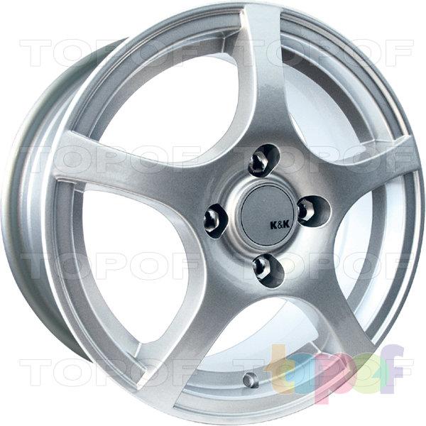 Колесные диски КиК Салют Нова. Модель Салют. Цвет блек платинум