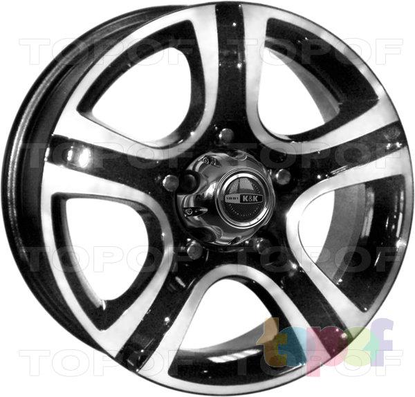 Колесные диски КиК Талисман мега. Алмаз черный