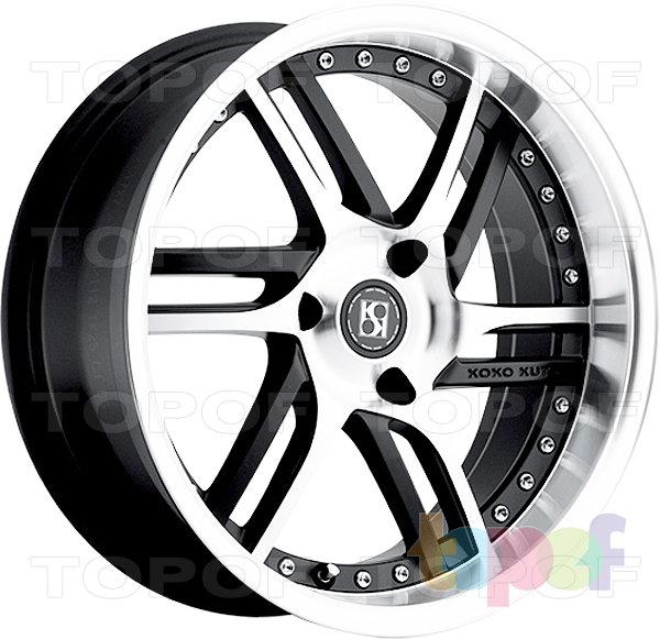 Колесные диски KOKO Kuture Spline. Черный матовый с полированной лицевой частью