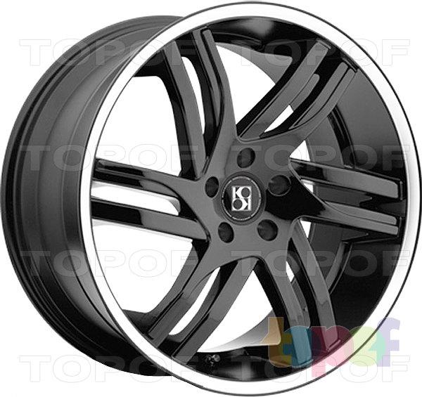 Колесные диски KOKO Kuture Spline. Черный матовый с полированным ободом