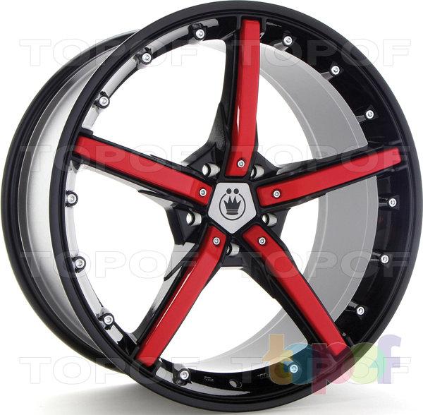 Колесные диски Konig Hotswap (SF91). Черный с красными вставками на лучах