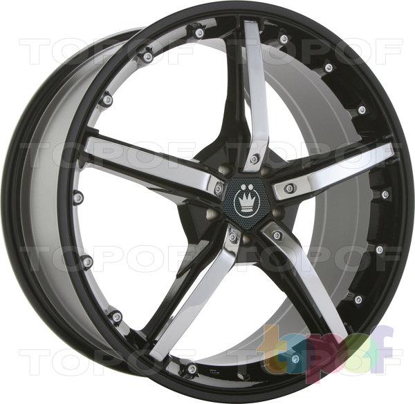 Колесные диски Konig Hotswap (SF91). Черный с хромированными вставками на лучах