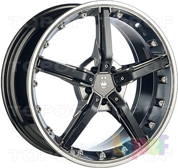 Колесные диски Konig Hotswap (SF91). Зеркальный с черными карбоновыми вставками на лучах