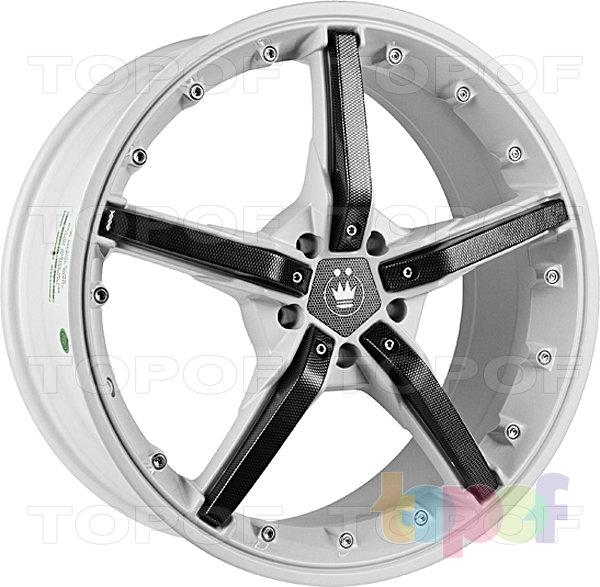 Колесные диски Konig Hotswap (SF91). Белый с черными карбоновыми вставками на лучах