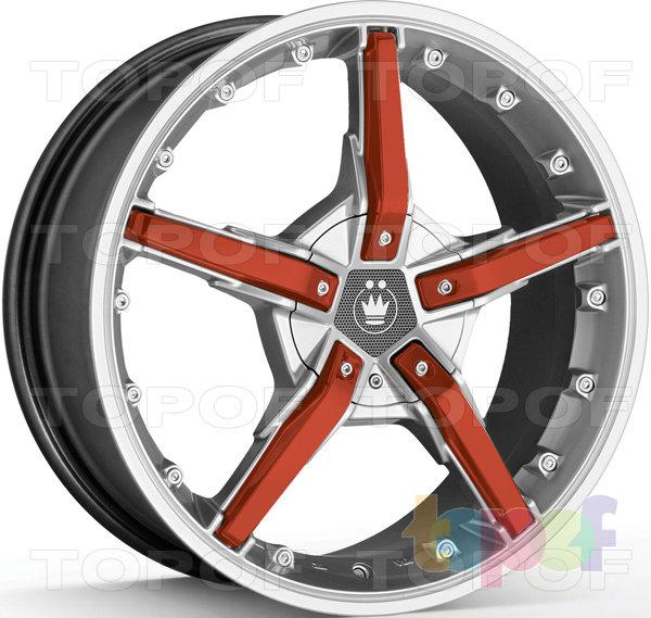 Колесные диски Konig Hotswap (SF92). Серебряный с оранжевыми карбоновыми вставками на лучах