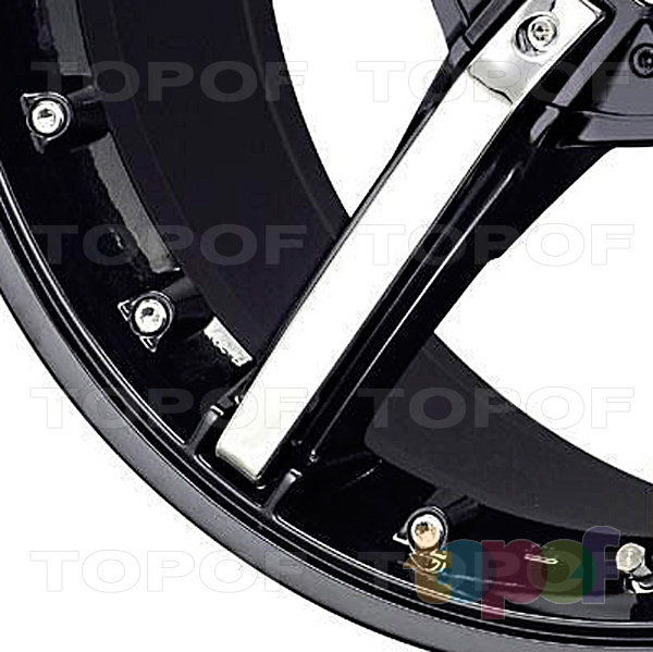 Колесные диски Konig Hotswap (SF92). Лучи и болты черного диска