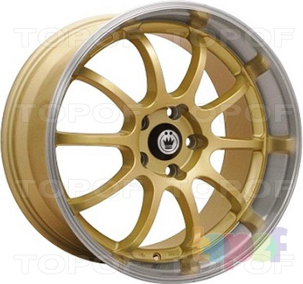 Колесные диски Konig Lightning (S893). Золотой цвет с полированным ободом