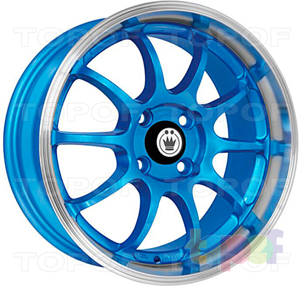 Колесные диски Konig Lightning (S893). Синий цвет с полированным ободом