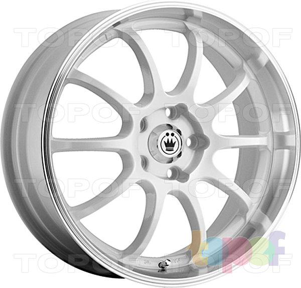 Колесные диски Konig Lightning (S893). Белый цвет с полированным ободом
