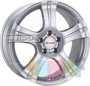 Колесные диски Kronprinz Magma Pyro (серебро). Изображение модели #1