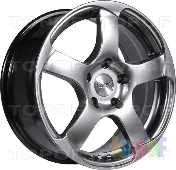 Колесные диски Kyowa KR1030. Цвет темно серый с полированной лицевой частью