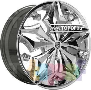 Колесные диски Lexani Firestar FWD (хром). Изображение модели #1