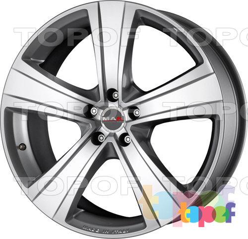 Колесные диски Mak Fuoco 5. Цвет насыщенный серебряный