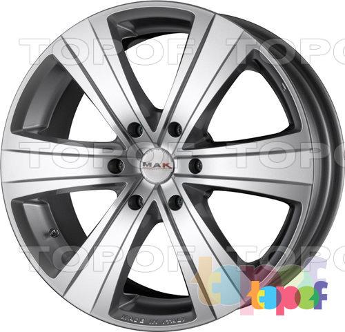 Колесные диски Mak Fuoco 6. Цвет - насыщенный серебряный