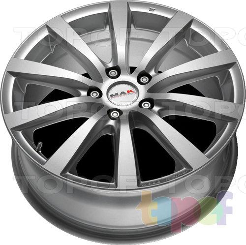 Колесные диски Mak Iguan. Цвет серебряный