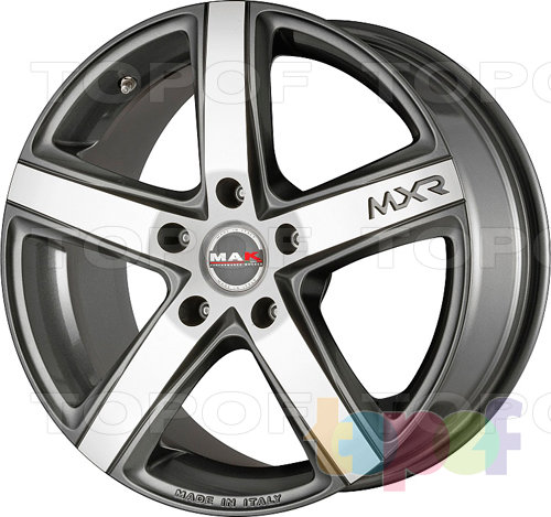 Колесные диски Mak Monaco. Цвет Gun Metallic / Mirror FAce